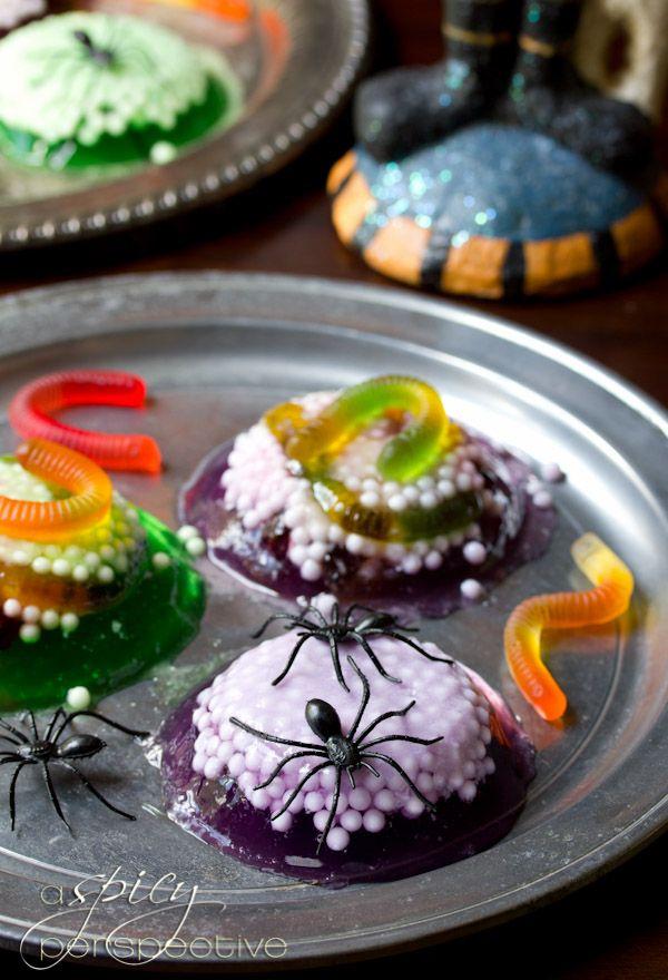 Spooky Worm Halloween Jello Recipe Jello, Halloween desserts and - halloween dessert ideas