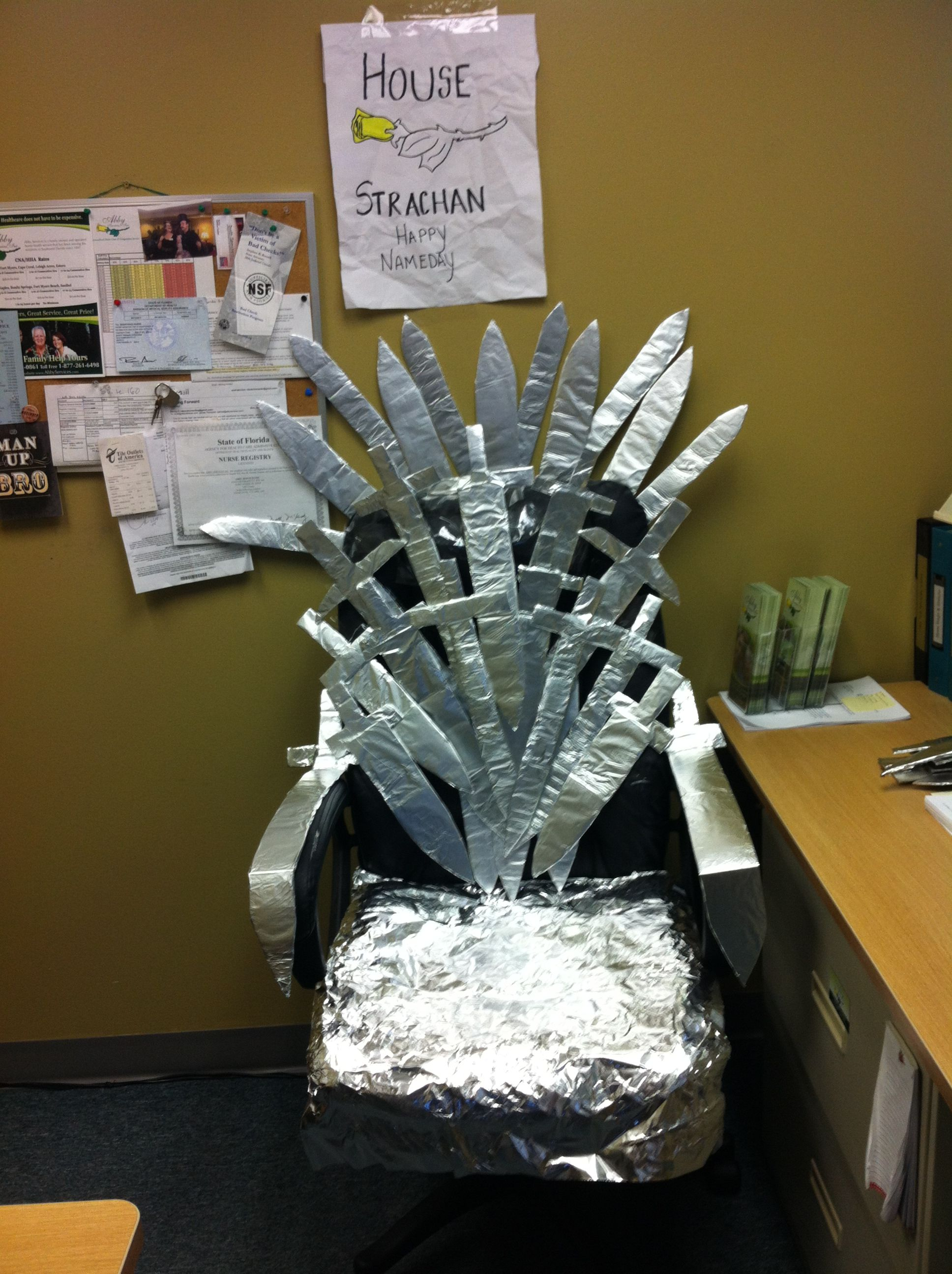 Game of thrones nameday office chair grown up parties for Buy iron throne chair