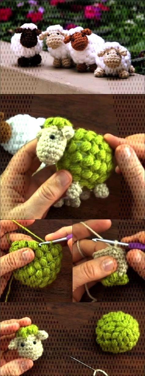 Photo crochet amigurumi sheep Thoughts  Wenn jemand mit kleinen niedlichen Schafen ein Haus schmüc