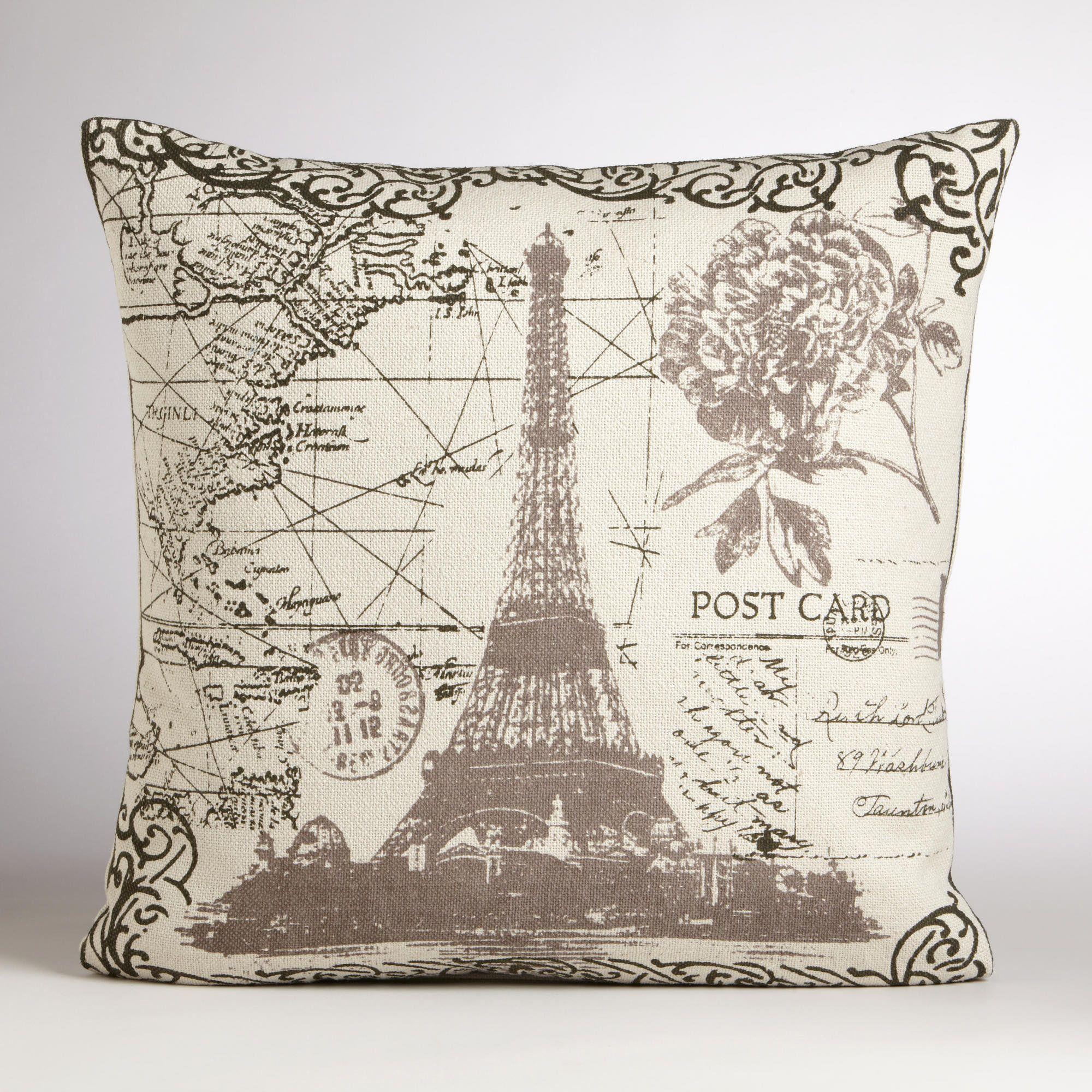 Eiffel Tower Throw Pillow World Market Mflb Pinterest # Muebles Bintash