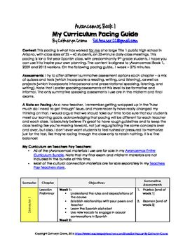 Avancemos 1 Pacing Guide - Curriculum Map for Spanish 1 | Spanish 1