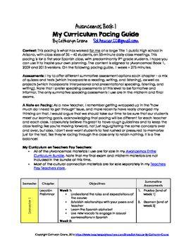 avancemos 1 pacing guide curriculum map for spanish 1 spanish 1 rh pinterest com Avancemoslevel 1 Page 24 Avancemos Textbook Level 1