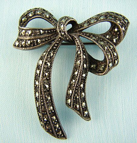 Solid 925 Sterling Silver Marcasite Bird Of Paradise Pin Brooch /'
