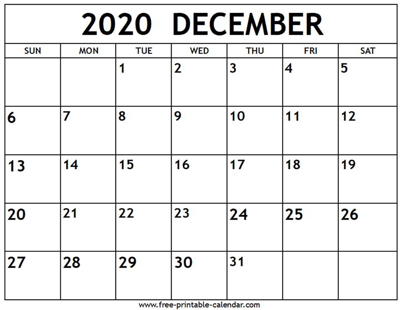 December 2020 Calendar - Free-printable-calendar.com ...