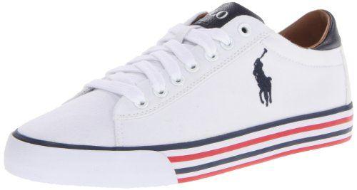 818b8d6f4eab Polo Ralph Lauren Men s Harvey Fashion Sneaker,Pure White Navy,11 D US Polo Ralph  Lauren