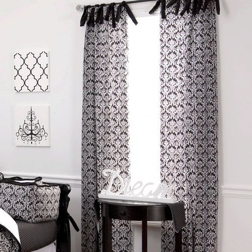 Curtains Ideas black and white damask curtains : Pinterest • The world's catalog of ideas