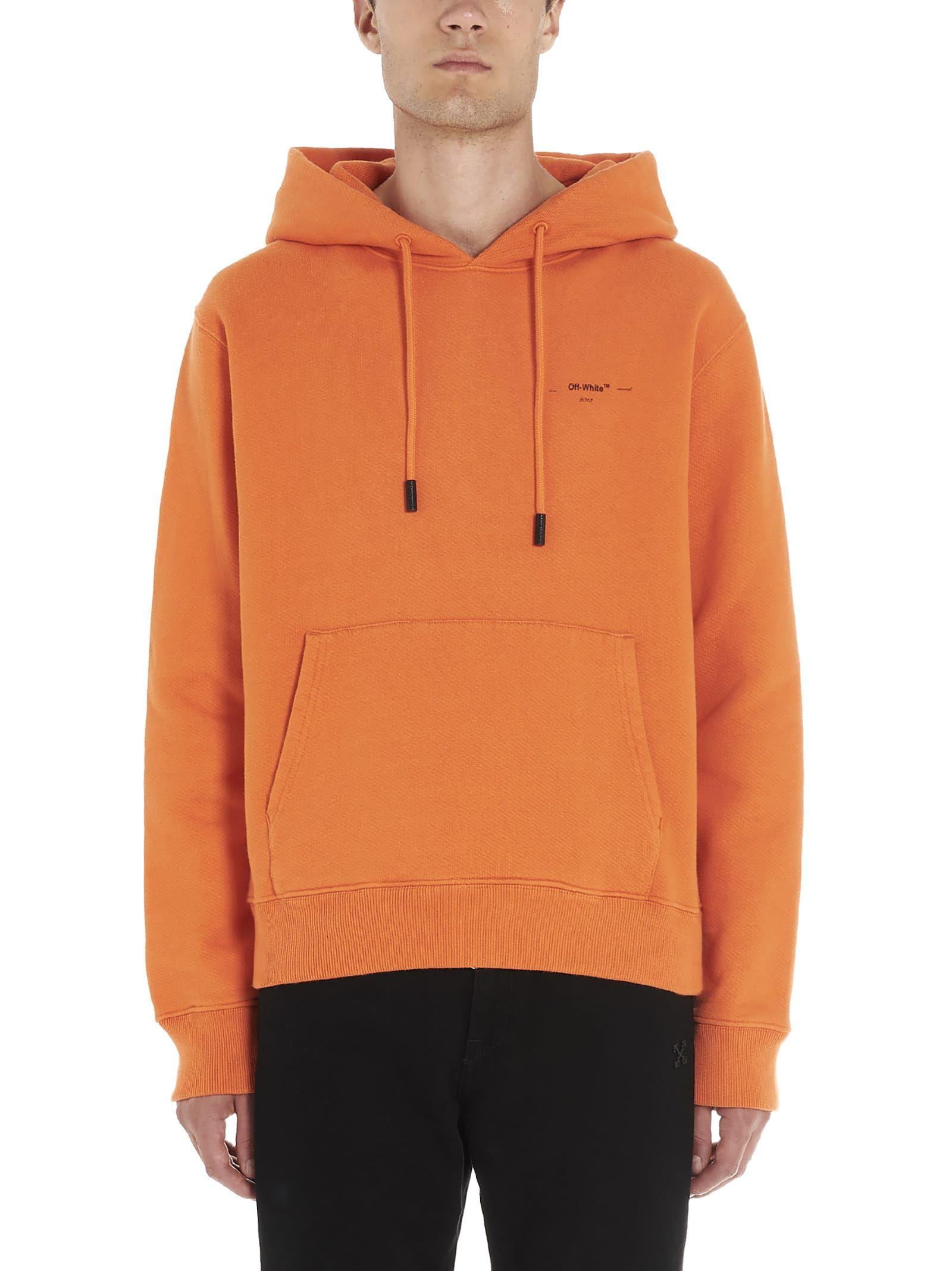 Men's Slim Hoodie Sweatshirt With Small Logo Print In