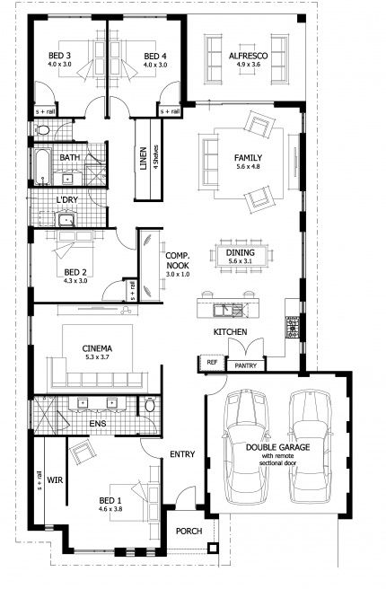 Hepburn Floor Plan Spacious Open Plan Living With
