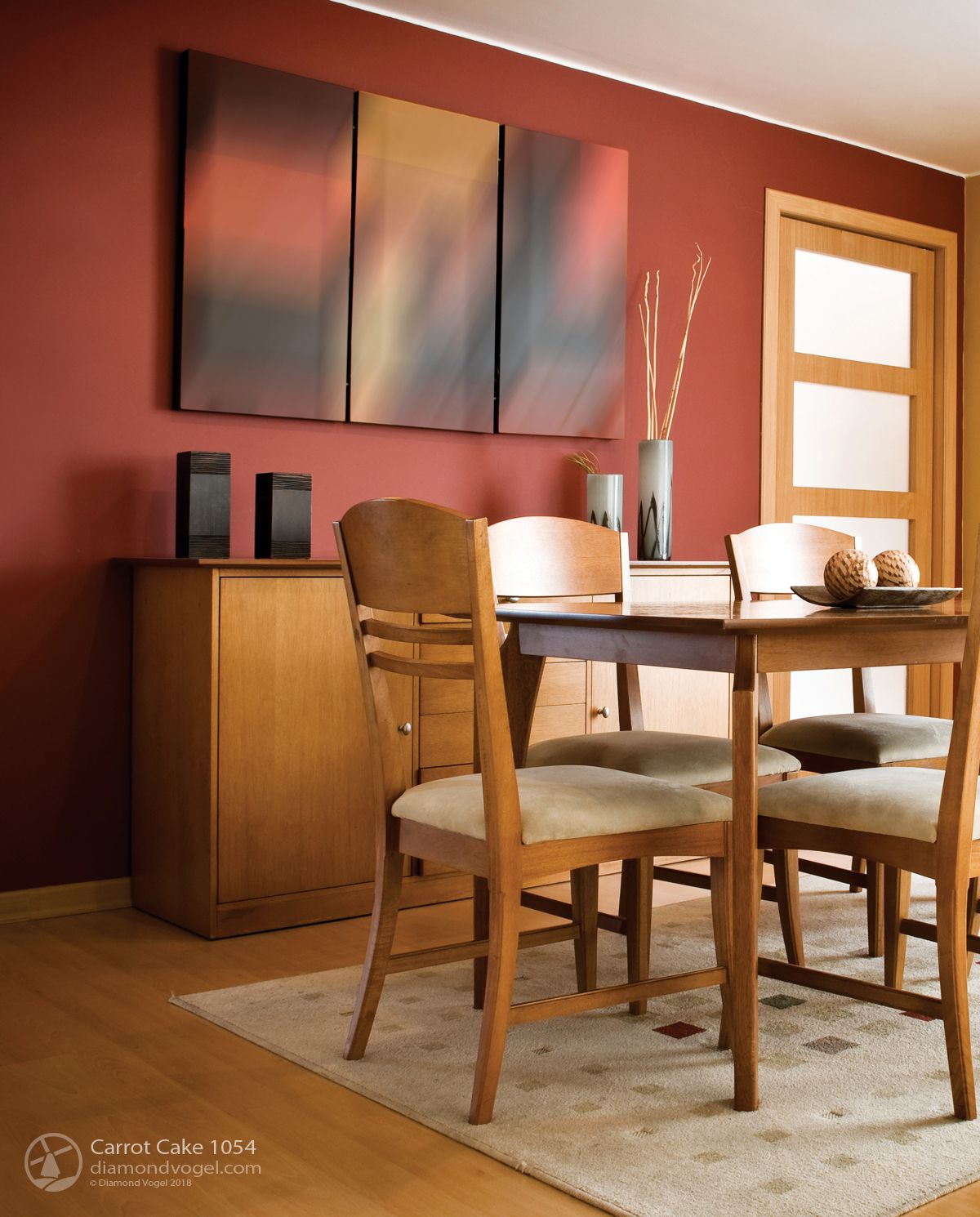 70 Modern Dining Room Ideas For 2019: Red Orange Dining Room Color 2019 Trending Colors Carrot