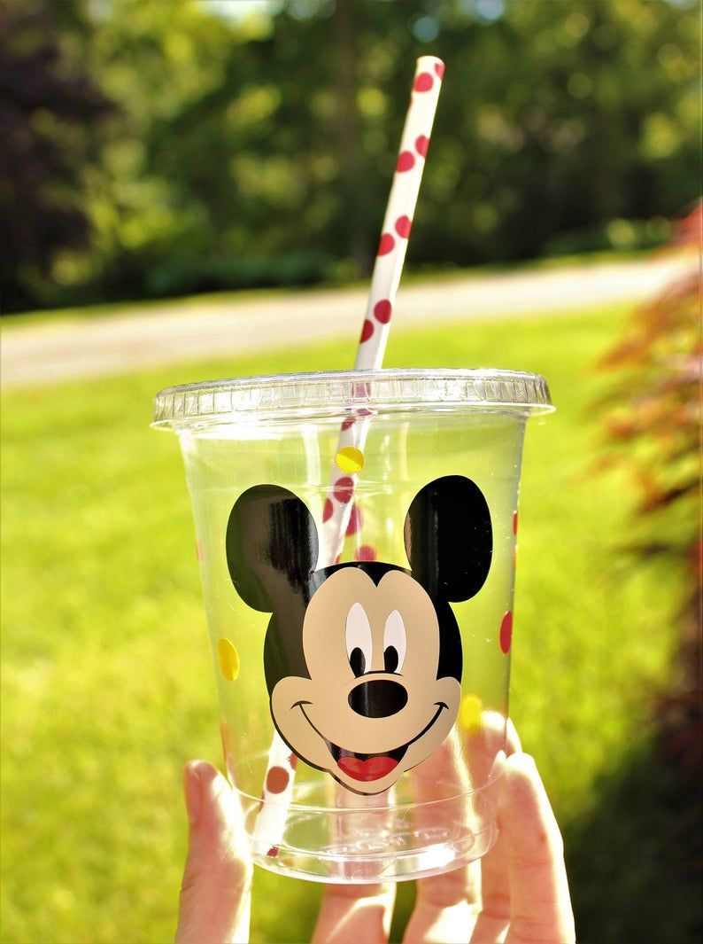 Mickey party cup/mickey mouse birthday party/mickey mouse party favor/mickey party supply/mickey disposable cup/mickey table setting/mickey