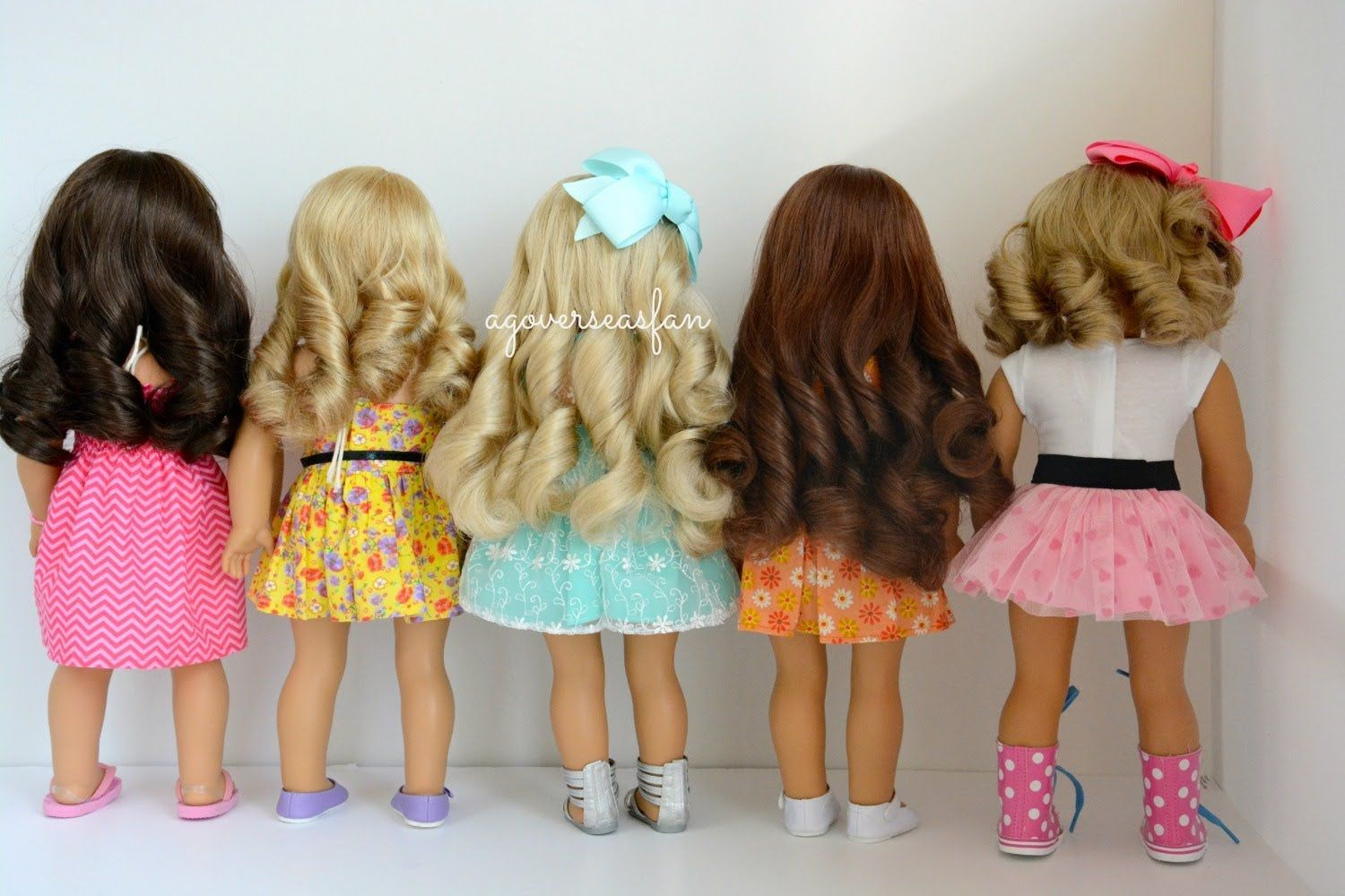 How to curl american girl dolls hair barbie pinterest doll