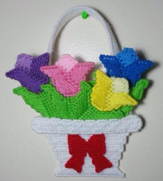 Tulip basket 1 2 lona de pl stico pinterest lona de - Lonas de plastico ...