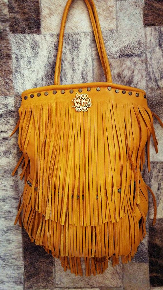 A gorgeous Yellow Personalized Leather Shoulder Bag with Initials 49a0bd0132e70