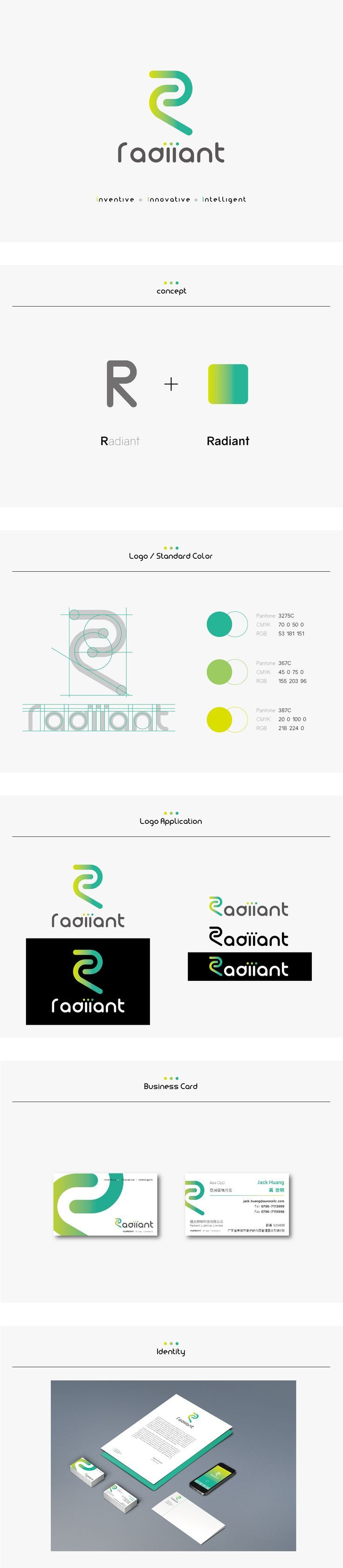 Radiiant  Logo  Identity Design Proposal