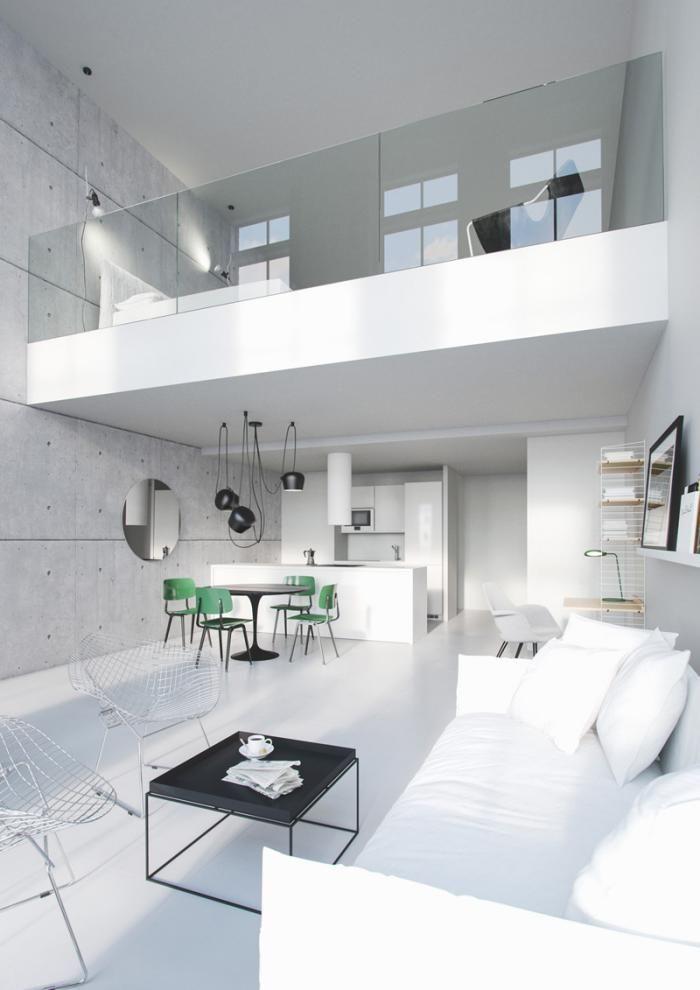 Le garde corps mezzanine - jolies idées pour lofts avec mezzanine - Logiciel De Maison 3d