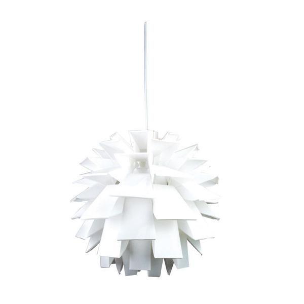 Description • Poly propylene pendant with a brushed chrome canopy