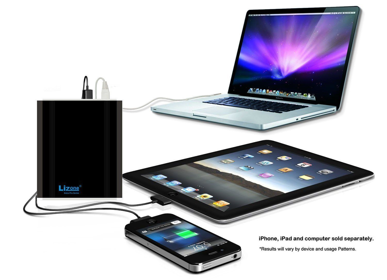 Amazon Com Lizone Extra Pro 26000mah External Battery Charger For