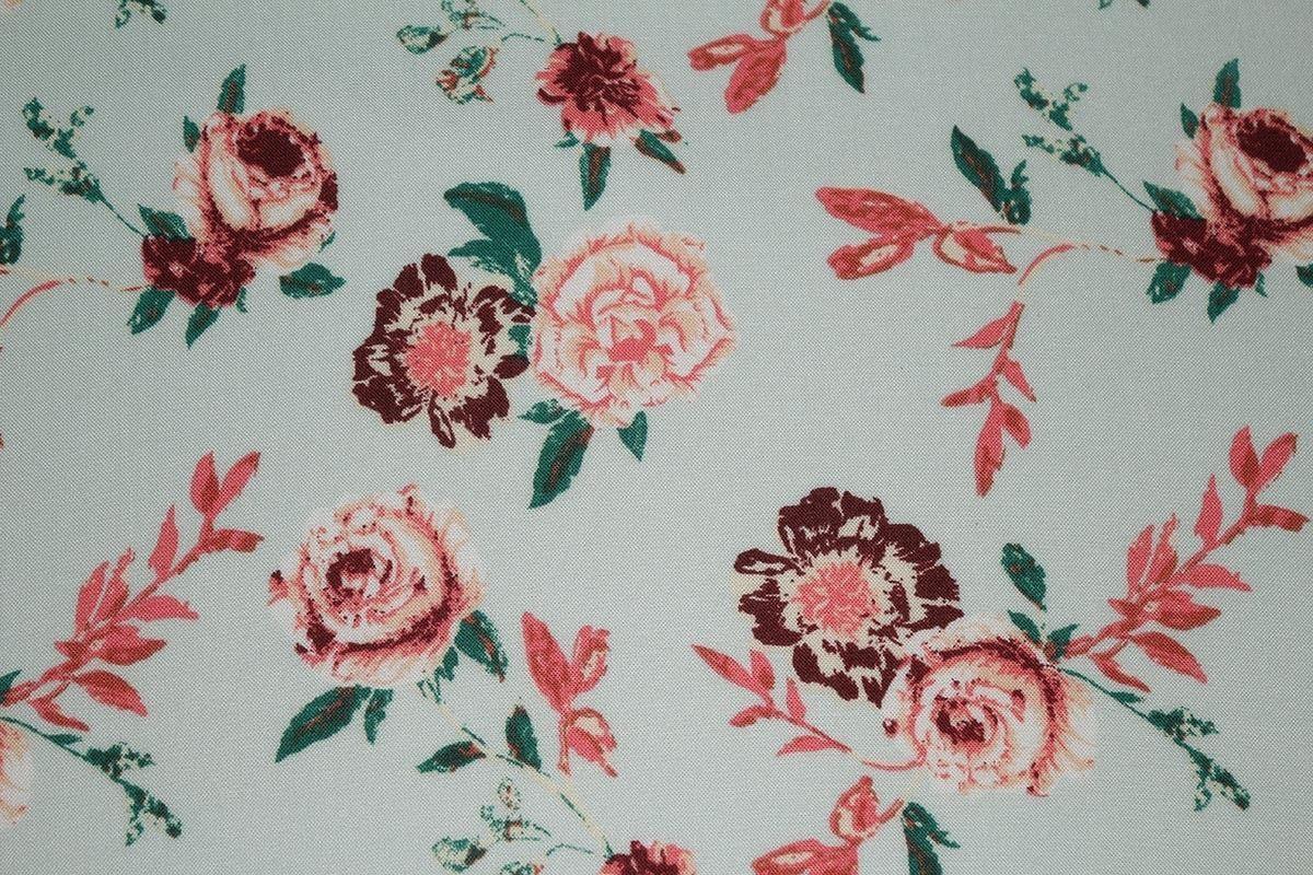 Faded Rose Floral Print 100/% Spun Viscose Dress Fabric Material Midnight