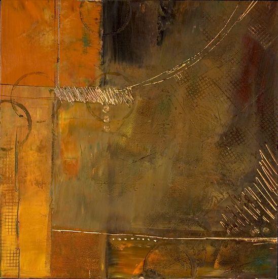 Opening Doors by Lisa Boardwine Oil/Wax ~ 12 x 12