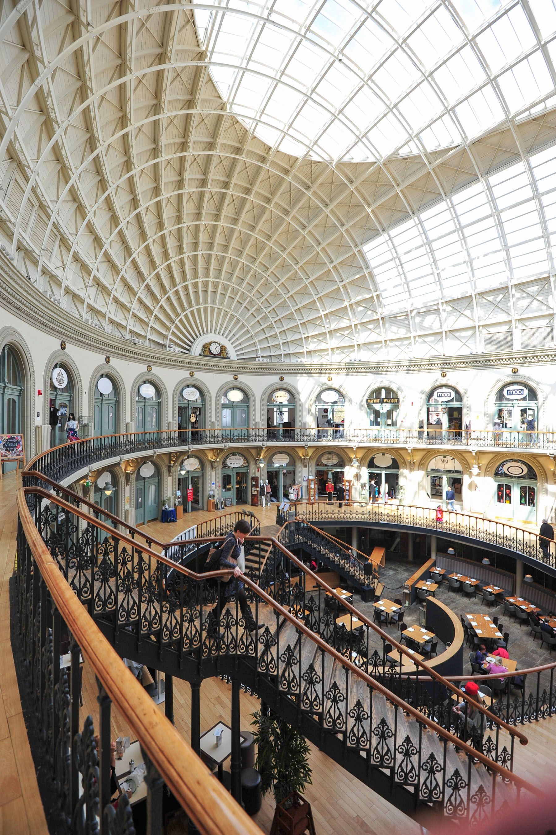 The Fantastic Roof Of Leeds Corn Exchange Opened In 1863 The Victorians Built It With The Two Roof Lights To Pro Leeds England England Photography Leeds City
