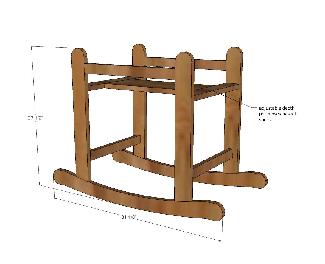 Ana White Build A Rocking Moses Basket Stand Free And