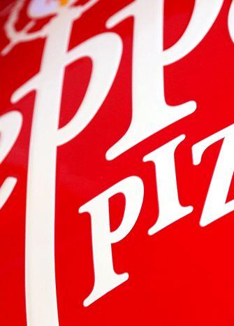 Peppes pizza identity @tangram design