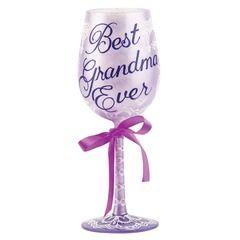 WINE GLASS BEST GRANDMA EVER - GLS11-5533L