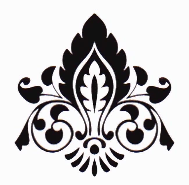 simple damask stencil - 650×635