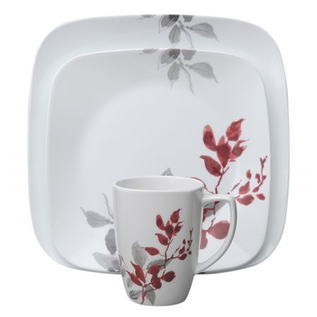 Corelle® Square™ Kyoto Leaves Dinnerware Set - Shop World Kitchen  sc 1 st  Pinterest & DescriptionCorelle® Square™ dinnerware features sleek squared ...
