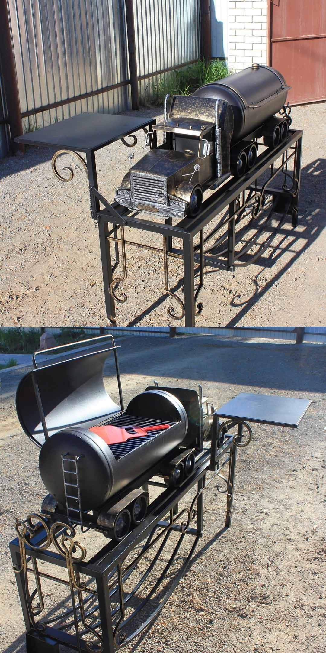 Pin By Pieter Luyten On Barbecue Grill Metal Grill Fire Pit Bbq Custom Bbq Grills