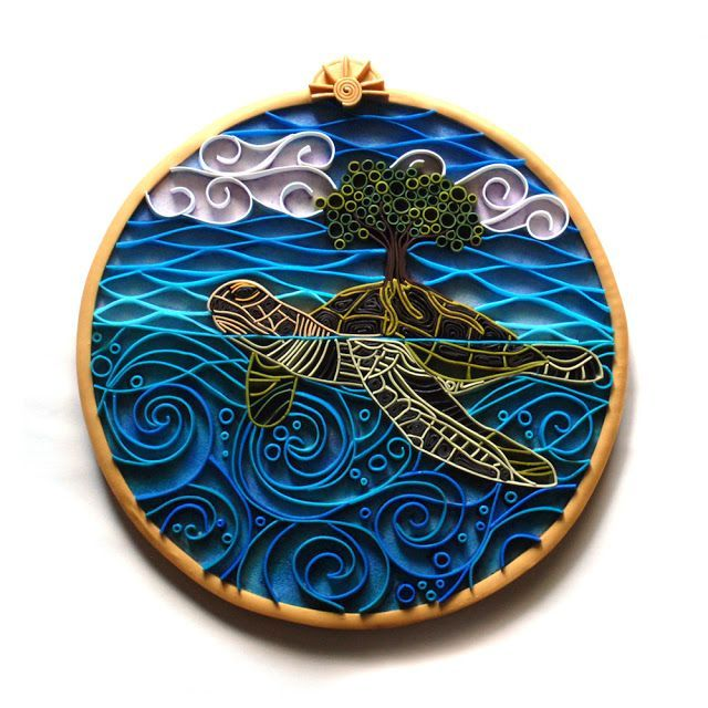 quilling patterns turtle | Beth Petricom - Quilling with Polymer - Create My World Designs ...