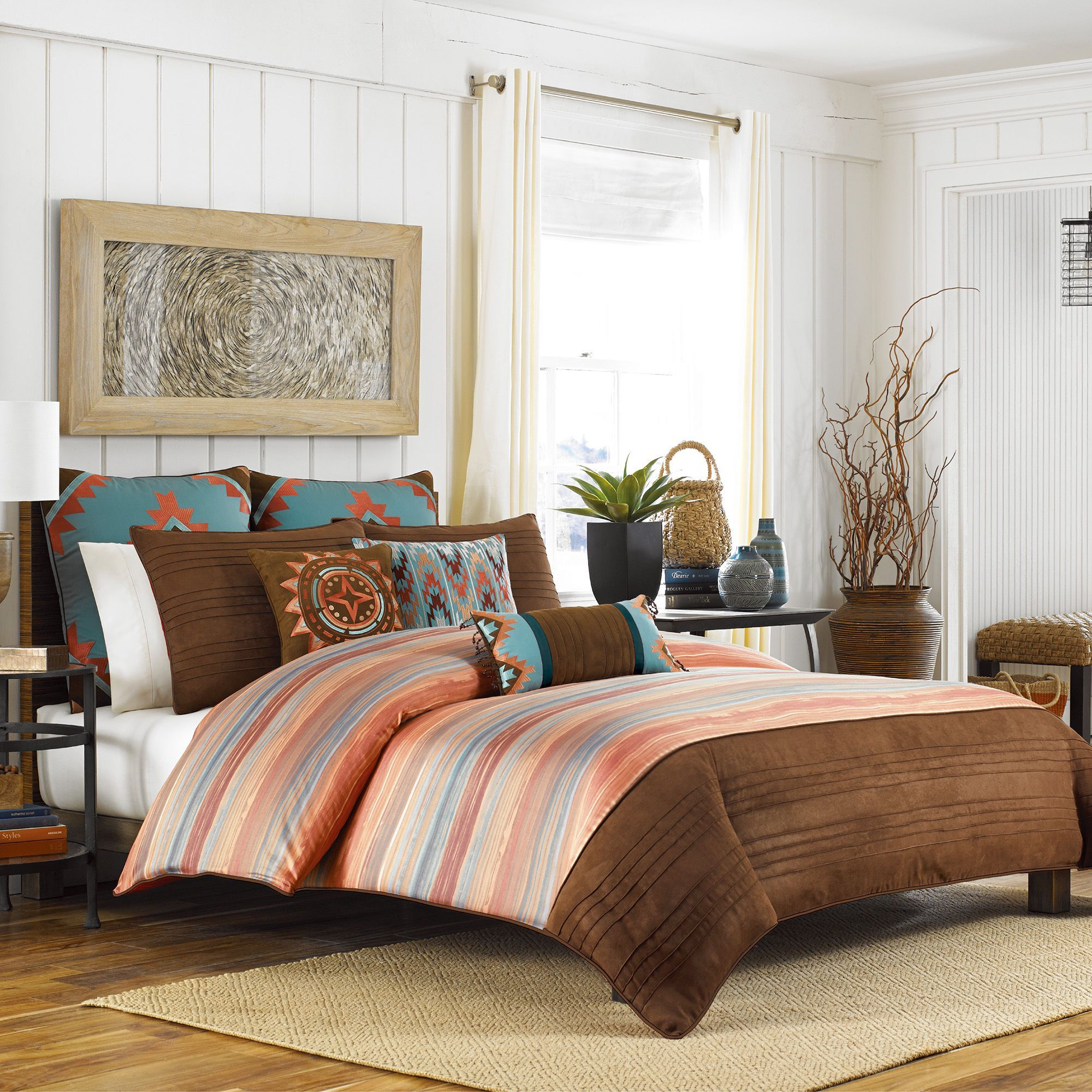 The Ventura Duvet Cover Collection brings a warm and
