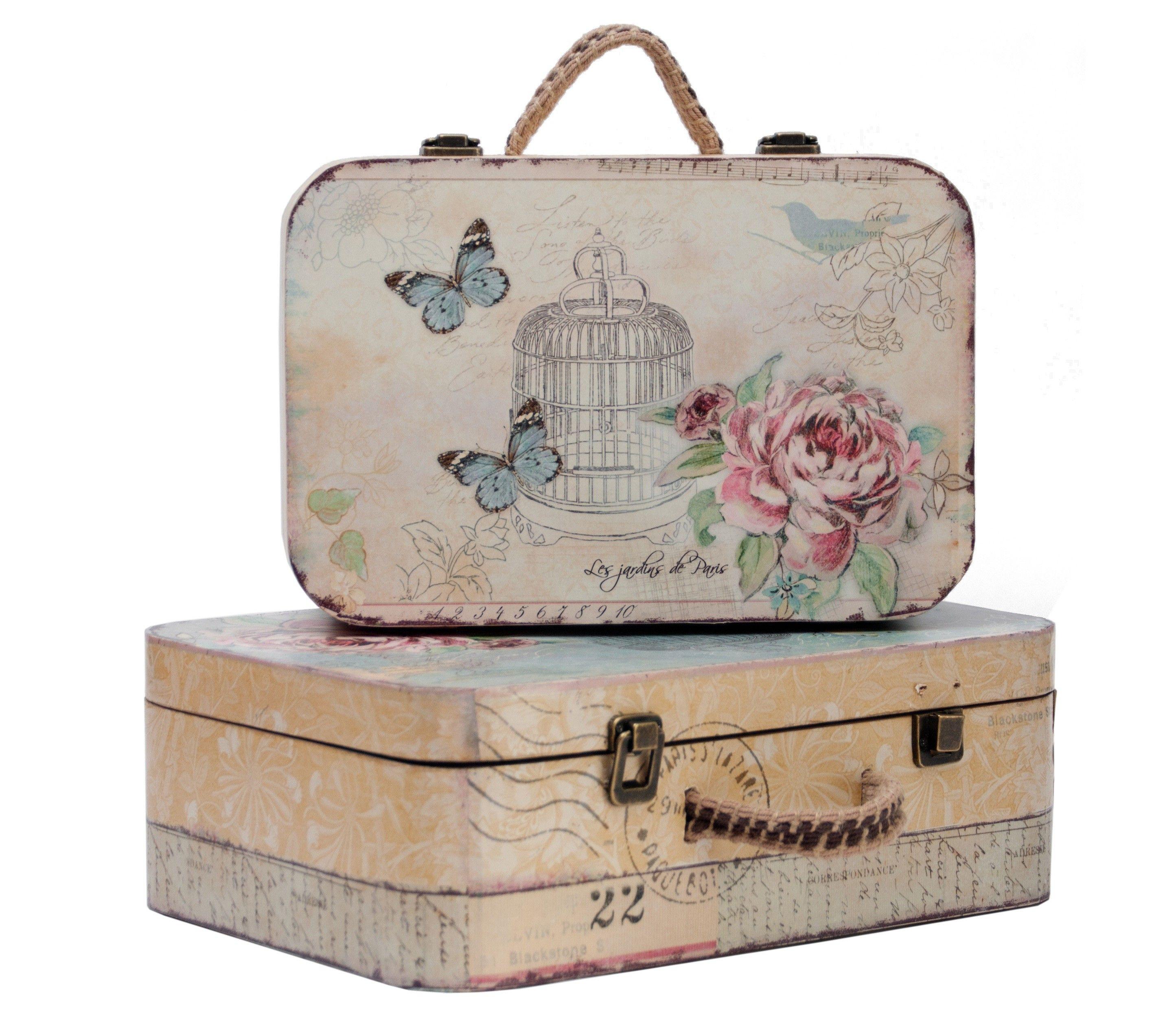 Maletas Mariposas Hogar Pinterest Maletas Mariposas Y Cajas ~ Cajas De Carton Decorativas Grandes