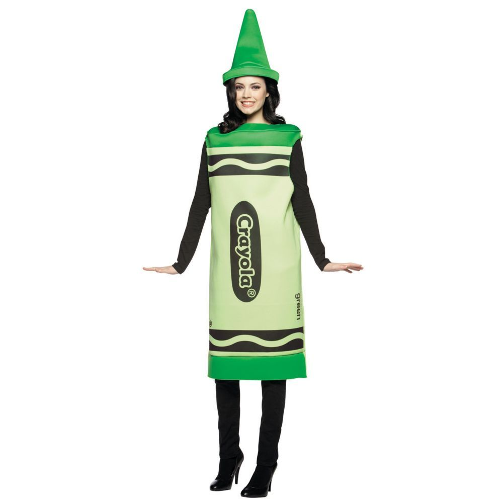 Crayola®  Green Halloween Costume for Adults - Large