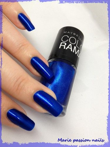 Nail Art Marie passion nails: Vernis Colorama 661: Ocean Blue