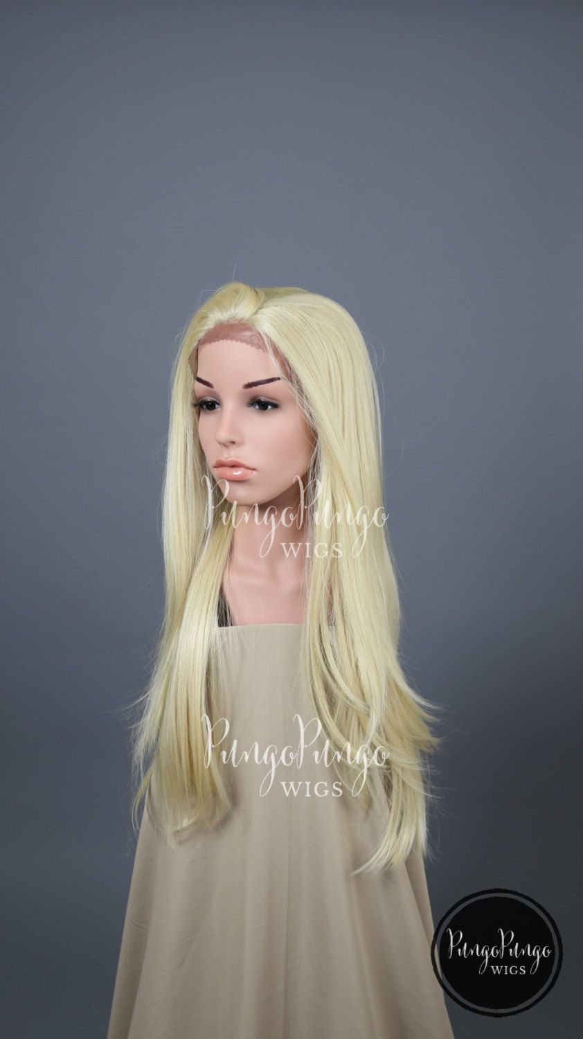 platinum blonde wig long straight lace front wig halloween costume daenerys - Halloween Costumes With Blonde Wig