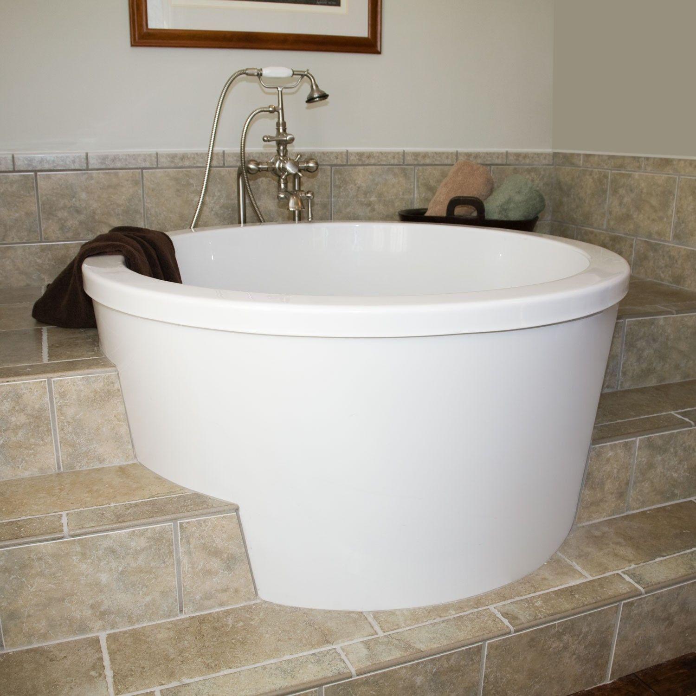 Calyx Deep Soaking Bath Minimal Deep Soaking Tub Small Bath Tub