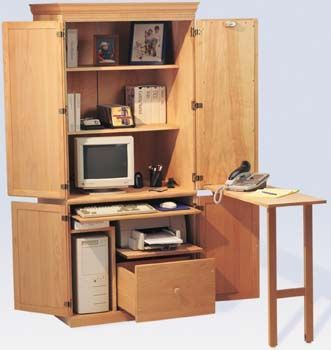 Image result for computer armoire with fold down table