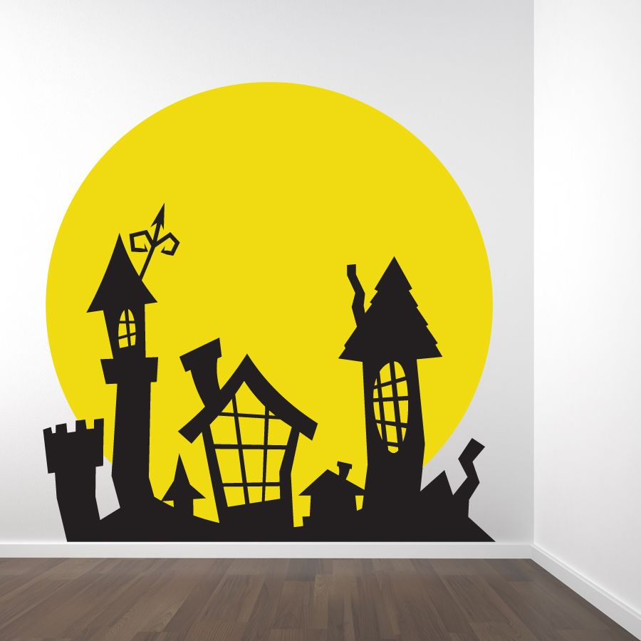 tim burton wall decals | this two color tim burton inspired wall ...