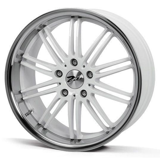 18 ZITO BELAIR WHITE INOX alloy wheels for 5 studs wheel fitment in 8.5x18 rim size