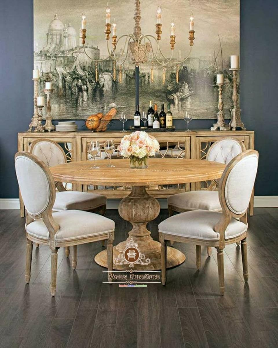 21+ French country round dining table set Best Seller