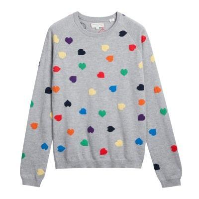 Rainbow Heart Sweater - CP454GM