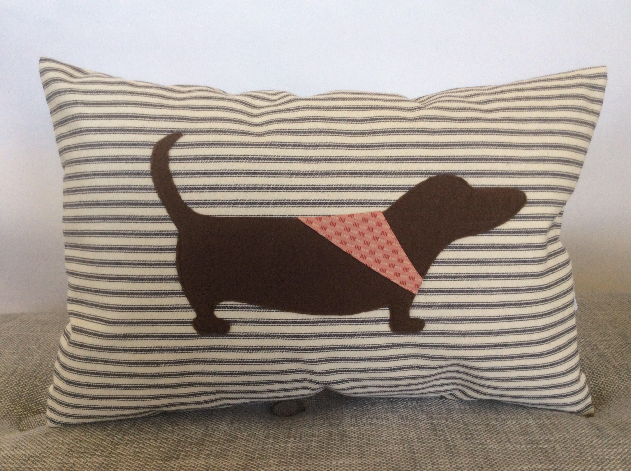 A personal favorite from my Etsy shop https://www.etsy.com/listing/511527564/dachshund-pillow-cover-dog-applique