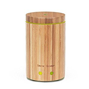 Amazon.com: InnoGear Real Bamboo Essential Oil Diffuser with Waterless Auto Shut-off: Home & Kitchen