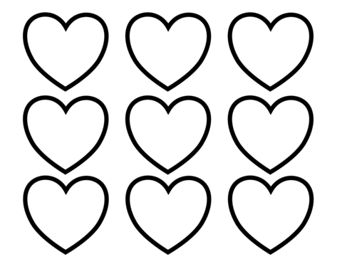 Valentines Day Blank Hearts Coloring page | teacher stuff ...