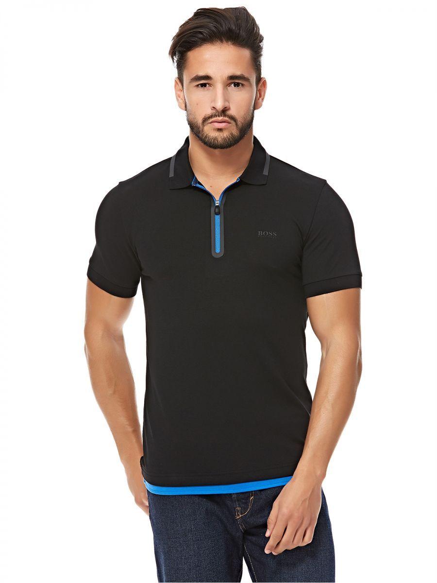 d4f6e56d2 Hugo Boss Polo for Men - Black | Men's Fashion | Mens fashion, Hugo ...