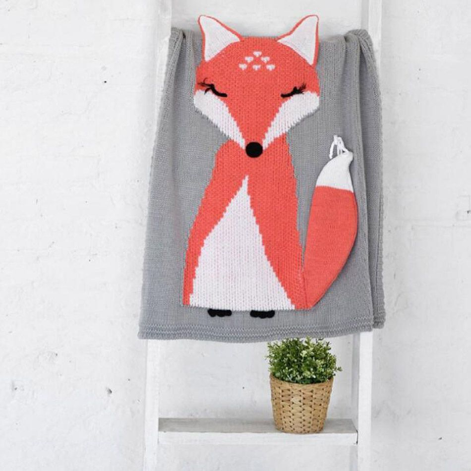 Baumwolldecke Baby Click To Buy Newborn Baby Blanket Lovely Fox Baby Knitting