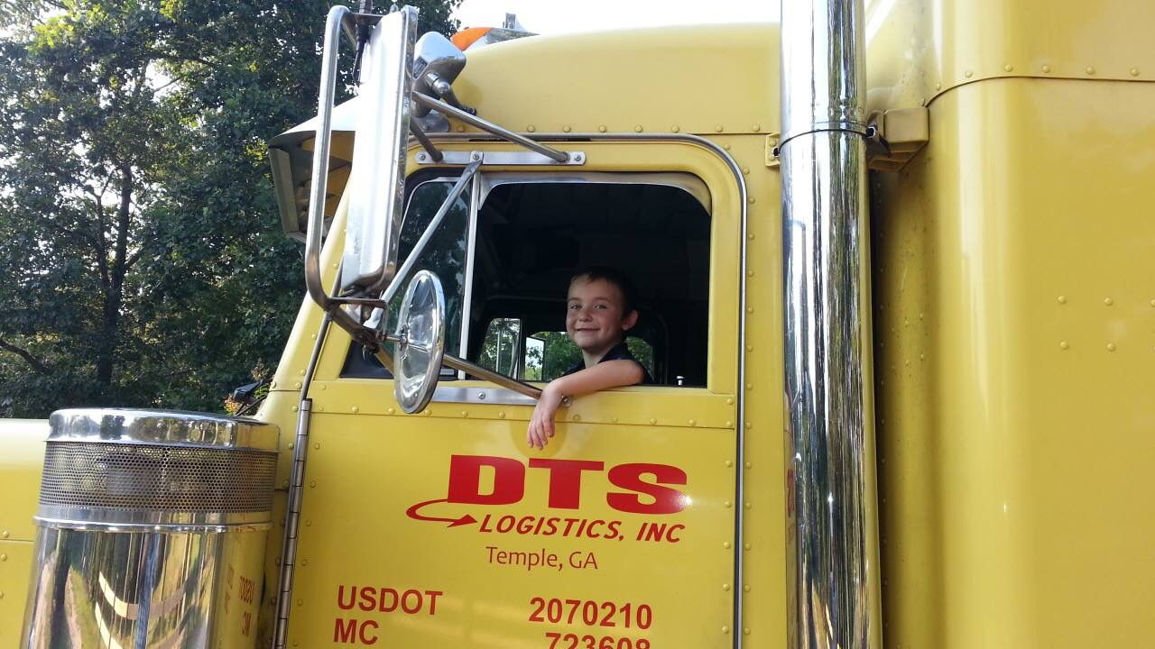 One day I'm going to drive a big truck, just like my Poppy