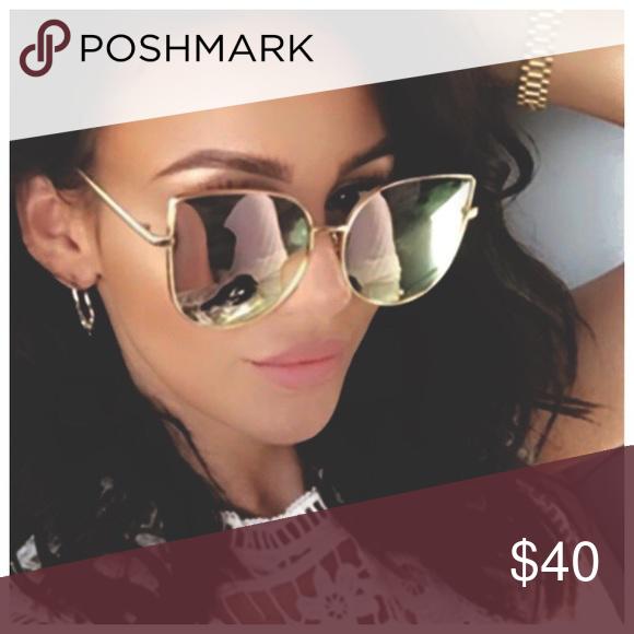 7e7127e296ba Spotted while shopping on Poshmark  ❥oversize Mirror cat eyes sunglasses!   poshmark  fashion  shopping  style  Accessories