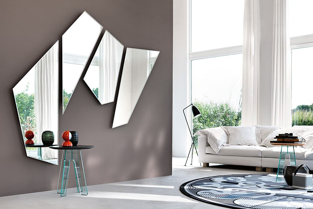 Mirage Mirror Contemporary Living Room Design At Cassoni Com Contemporary Living Room Design Stylish Wall Decor Wall Panels